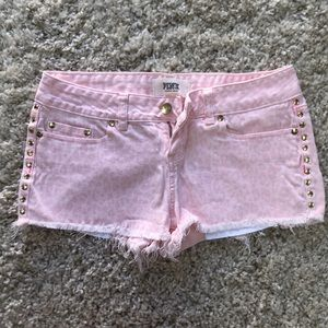 NWOT VS PINK shorts with gold studs